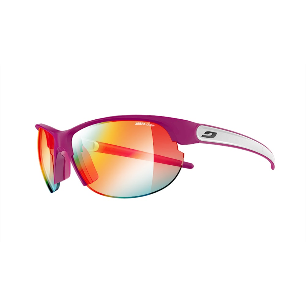 JULBO Breeze Sunglasses with Zebra Light Fire, Plum/White - PURPLE/WHITE