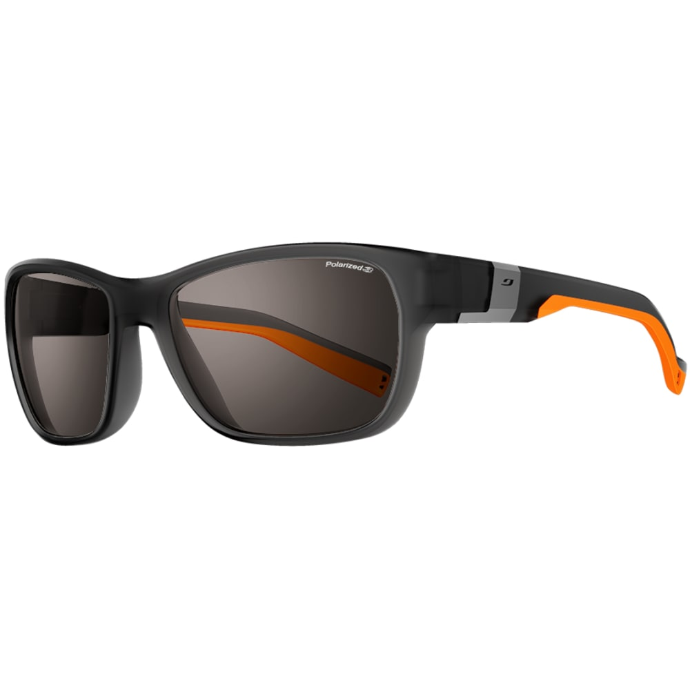 JULBO Coast Sunglasses with Polarized 3, Translucent Black/Orange - TRAN BLU/ORANGE
