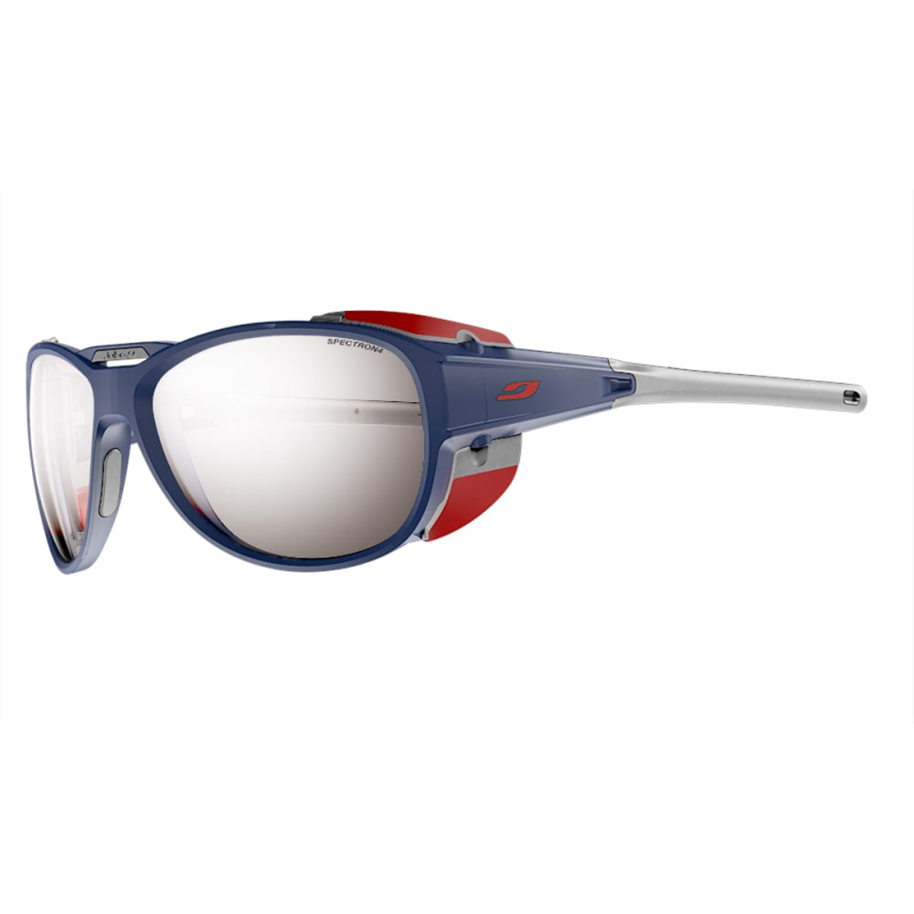 JULBO Explorer 2.0 Sunglasses with Spectron 4, Matt Blue / Red - BLUE MATT/RED