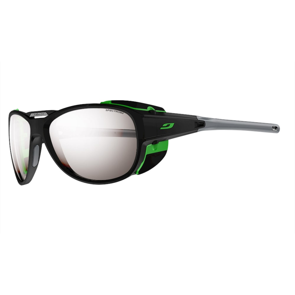 JULBO Explorer 2.0 Sunglasses with Spectron 4, Matt Grey/Green - BLACK/GREEN