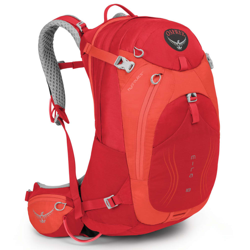 OSPREY Women's Mira AG 18 Hydration Pack   - CHERRY RED