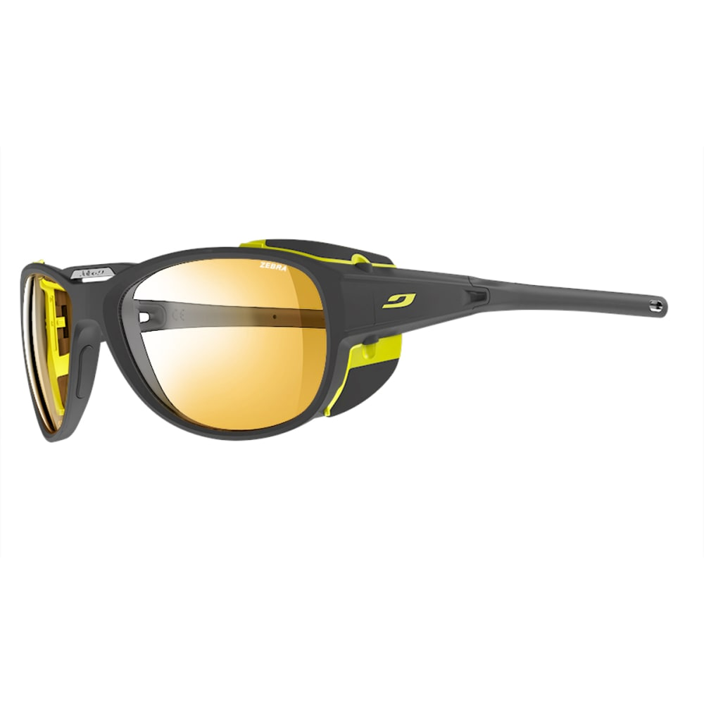 JULBO Explorer 2.0 Sunglasses with Zebra, Matt Grey/Yellow - GREY/YELLOW