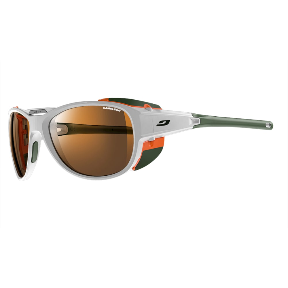JULBO Explorer 2.0 Sunglasses with Camel, White/Orange - WHITE/ORANGE