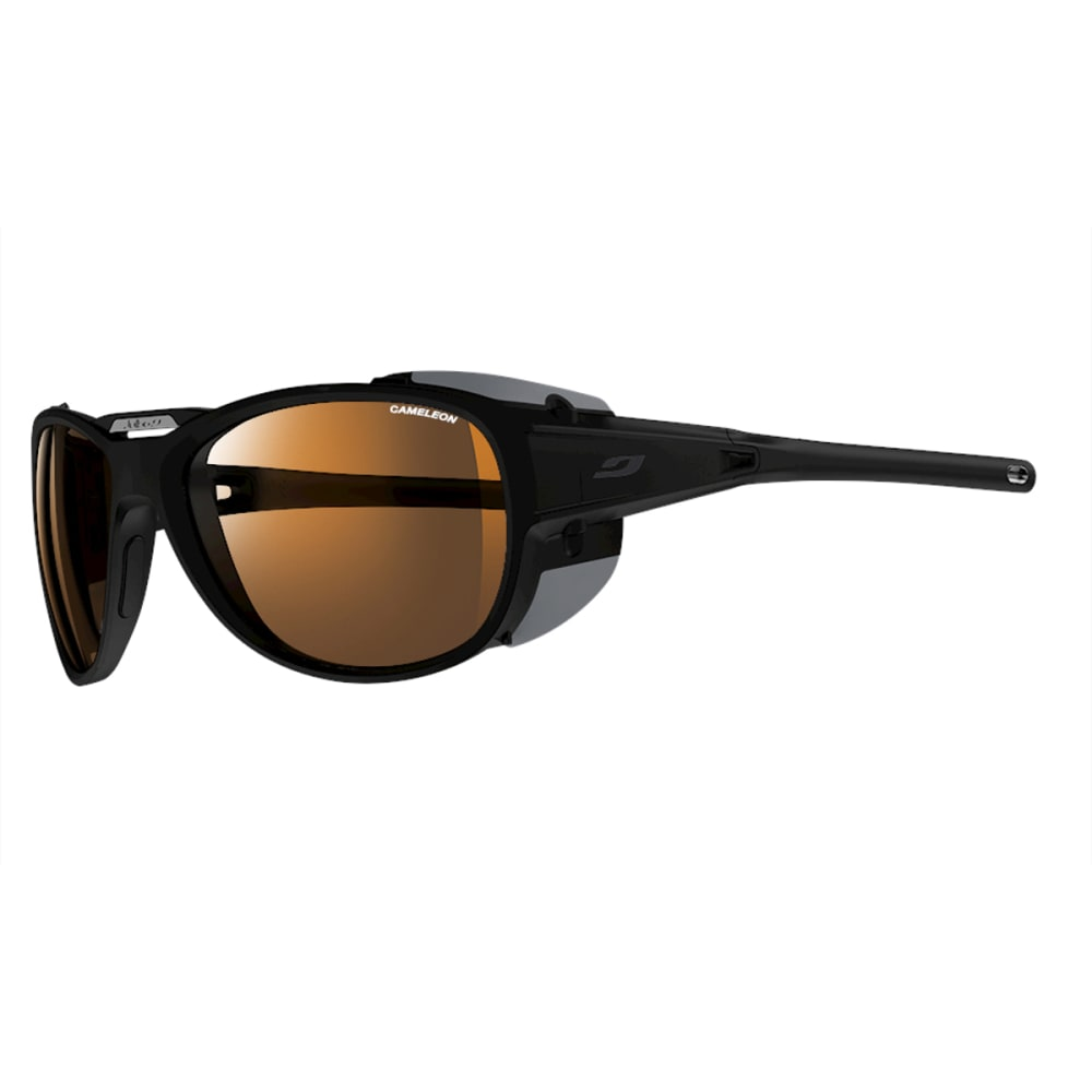 JULBO Explorer 2.0 Sunglasses with Camel, Matt Black/Black - BLACK