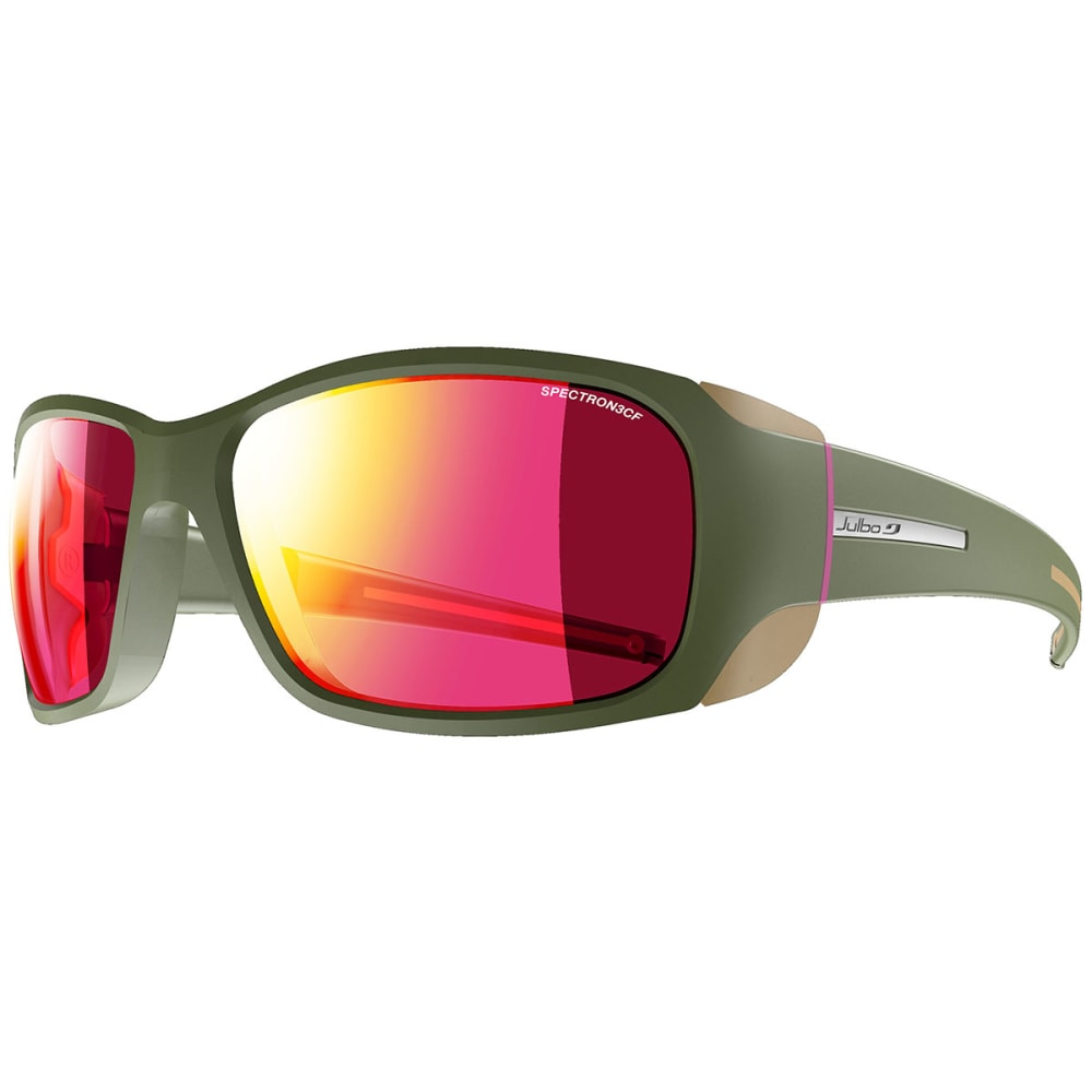 JULBO Monterosa Sunglasses with Spectron 4, Dark Blue/Grey/Coral - ARMY/CAMEL/PINK