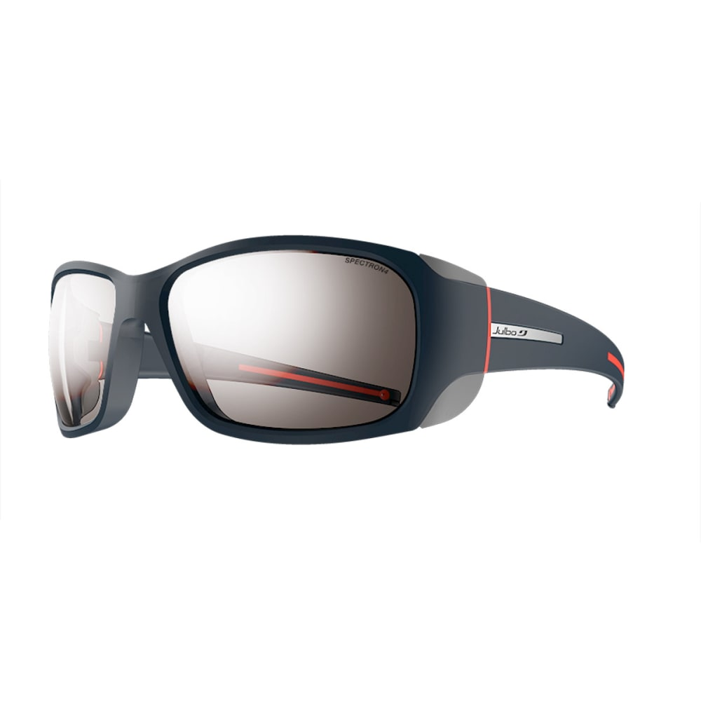 JULBO Monterosa Sunglasses with Spectron 4, Dark Blue/Grey/Coral - BLUE/GREY/CORAL