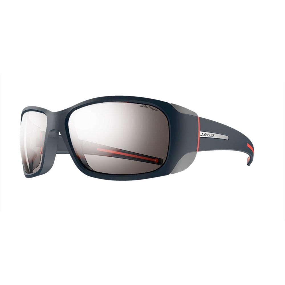 JULBO Monterosa Sunglasses with Spectron 4, Dark Blue/Grey/Coral - BLUE/GREY/CORAL