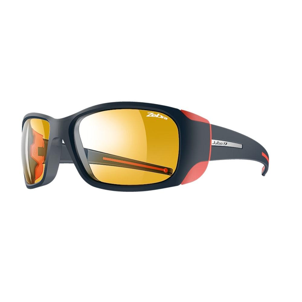 JULBO Monterosa Sunglasses with Zebra, Dark Blue/Coral - MATT BLUE/CORAL