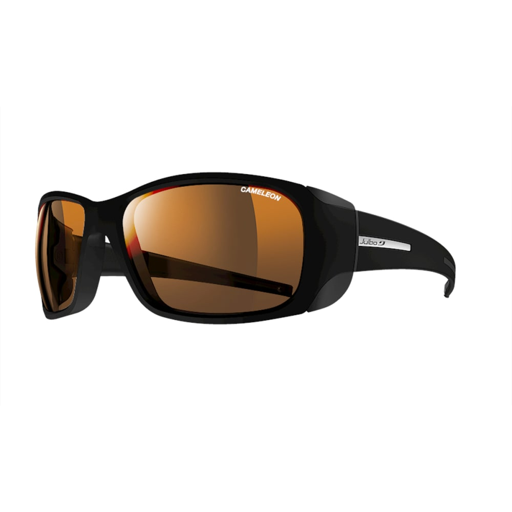 JULBO Monterosa Sunglasses with Camel, Matt Black/Black - BLACK