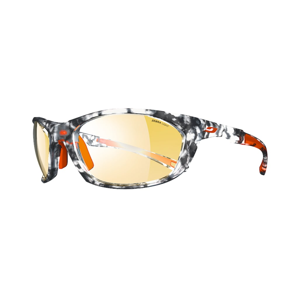 JULBO Race 2.0 Sunglasses with Zebra Light, Tortoiseshell Grey/Orange - TORTOISE GREY/ORANGE