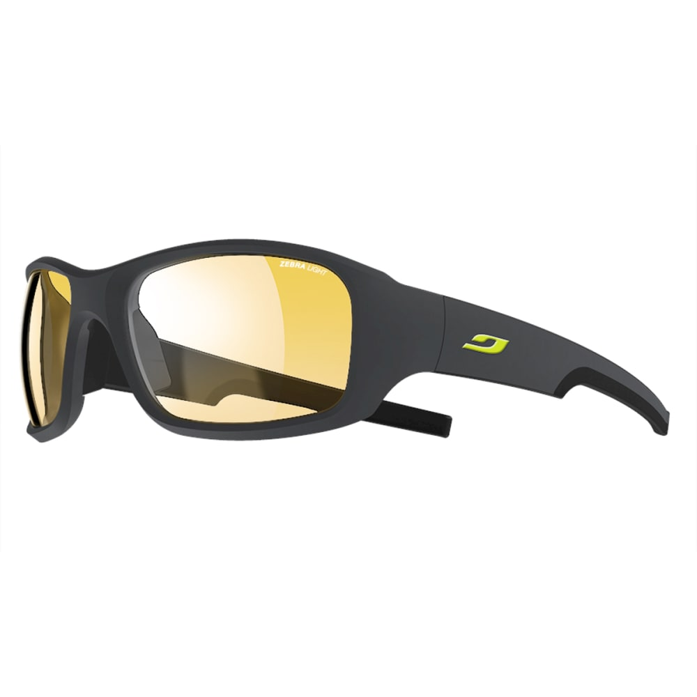 JULBO Stunt Sunglasses with Zebra Light, Grey/Yellow - GREY/SHINY YELLOW