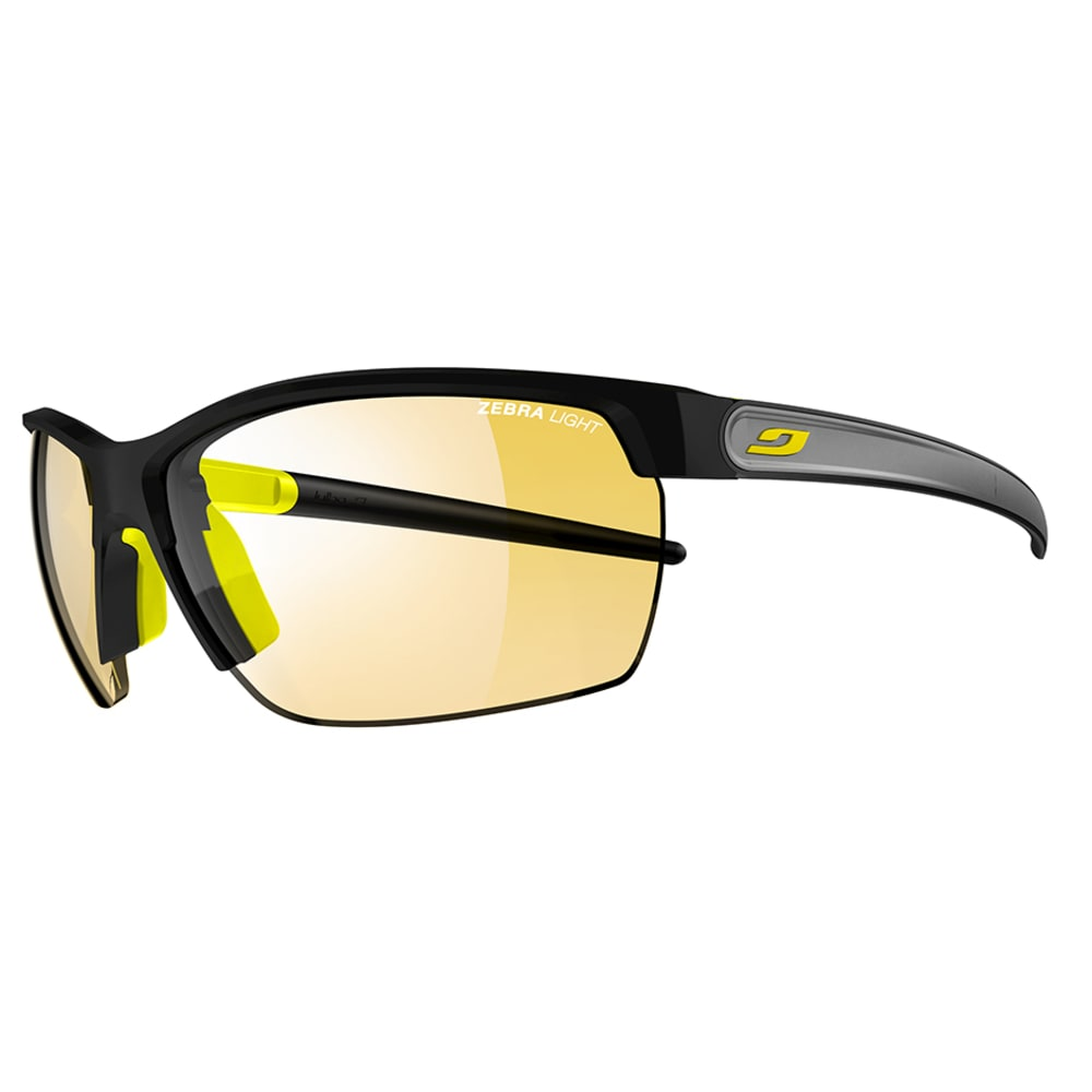 JULBO Zephyr Sunglasses with Zebra Light, Black/Yellow - BLACK/YELLOW/GREY