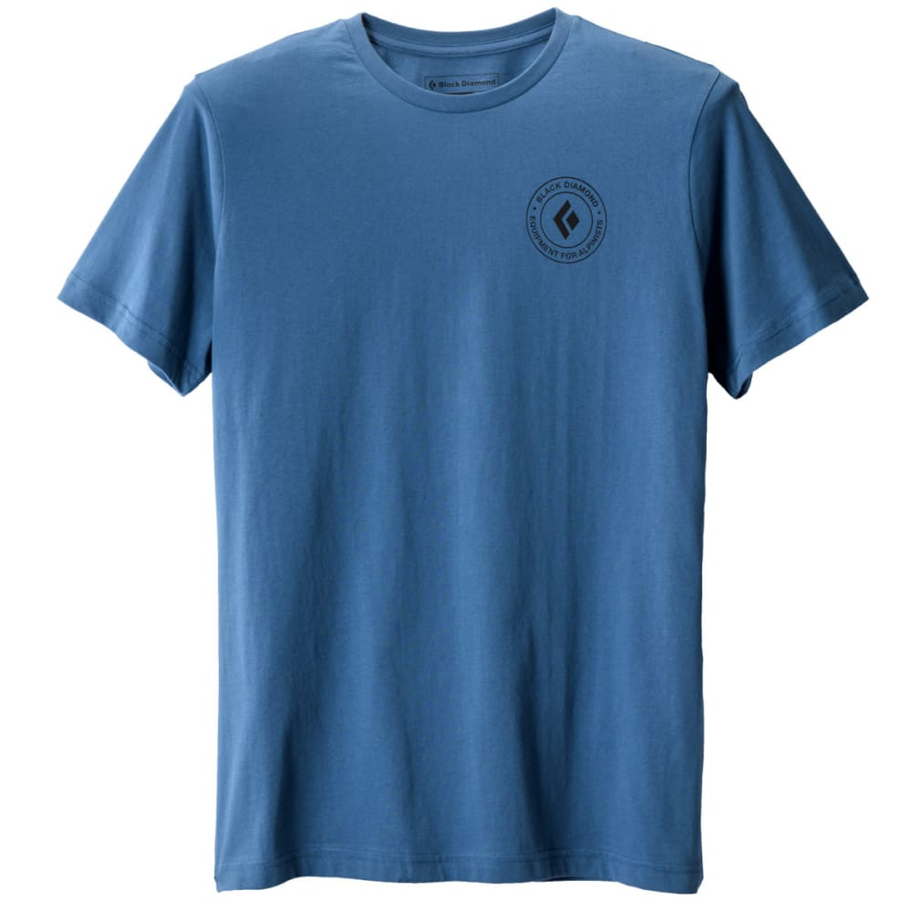 Black Diamond Men's S/s Circle Logo Tee - Blue - Size M Y6GI