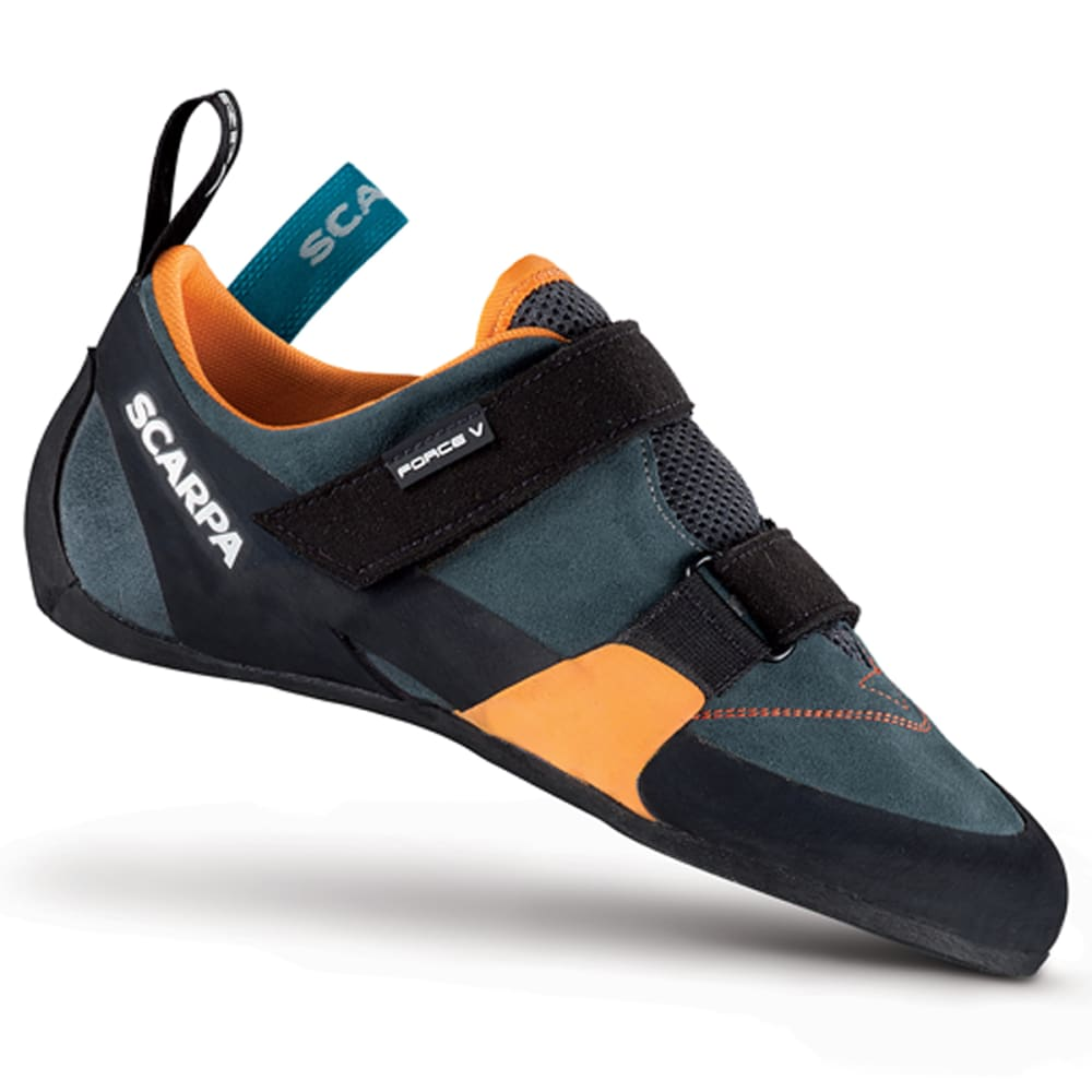 SCARPA Force V Climbing Shoes, Mangrove/Papaya - MANGROVE/PAPAYA