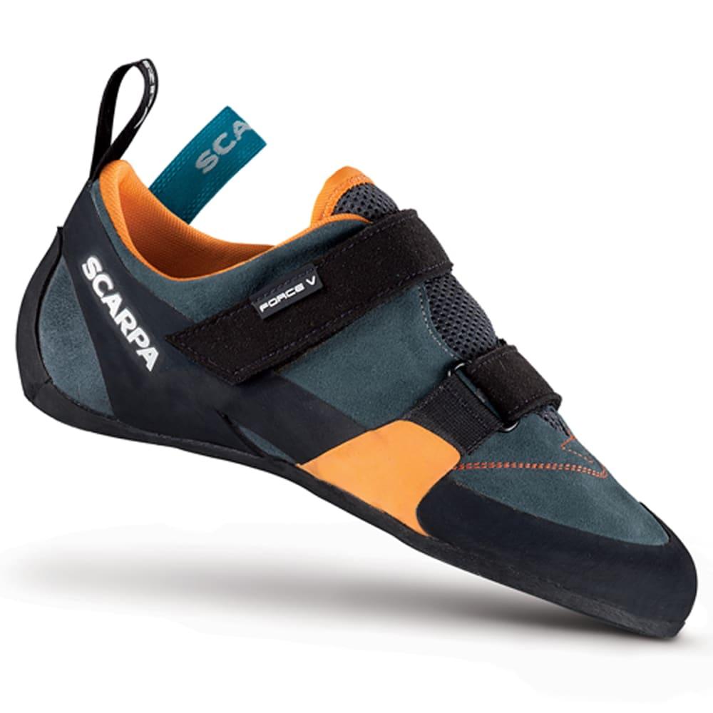 SCARPA Men's Force V Climbing Shoes - MANGROVE/PAPAYA