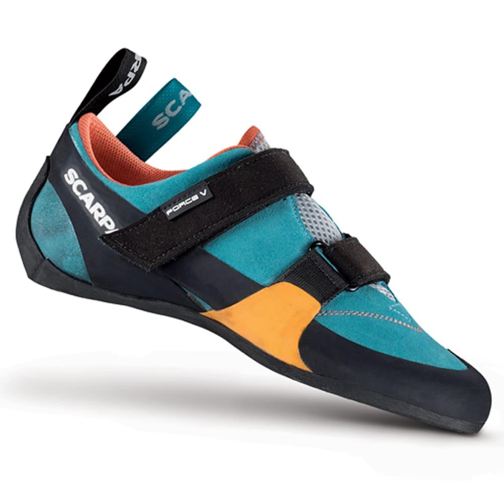 SCARPA Women's Force V Climbing Shoes, Ice Fall/Mandarin Red - ICEFALL.MANDARIN RED