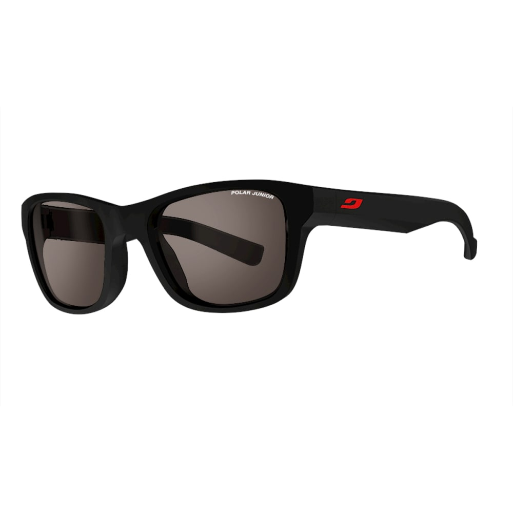 JULBO Youth Reach Sunglasses with Polarized, Black/Red ONE SIZE