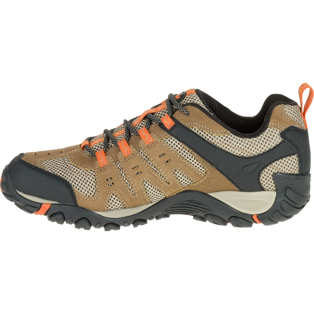 MERRELL Men's Accentor Low Waterproof Hiking Shoes, Otter/Burnt Orange - OTTER/BURNT ORANGE
