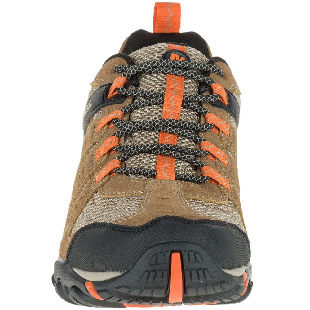c6189082a07 MERRELL Men's Accentor Low Waterproof Hiking Shoes, Otter/Burnt Orange