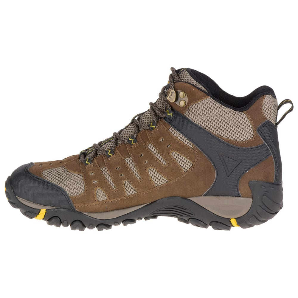 MERRELL Men's Accentor Mid Ventilator Waterproof Hiking Boots - M STONE/OLD GOLD