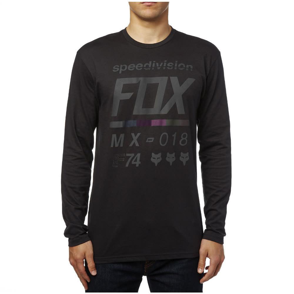 FOX Guys' Draftr Long Sleeve Tee - BLACK-001