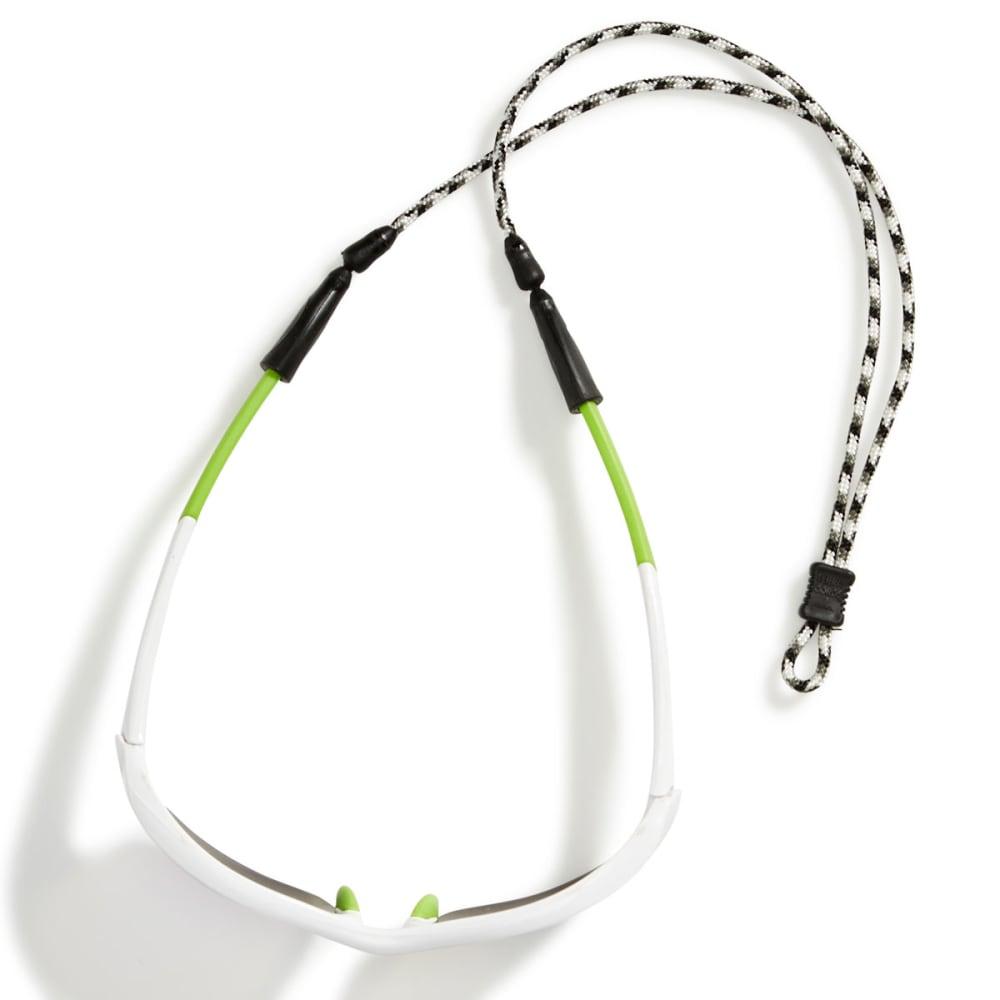 CROAKIES Terra System Adjustable Sunglasses Retainer, XXL - WHITE/BLACK