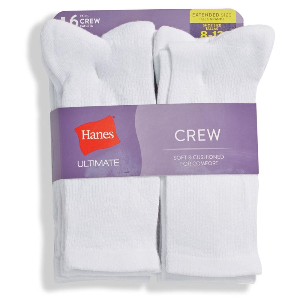 HANES Women's Ultimate Crew Socks, 6-Pack 8-12