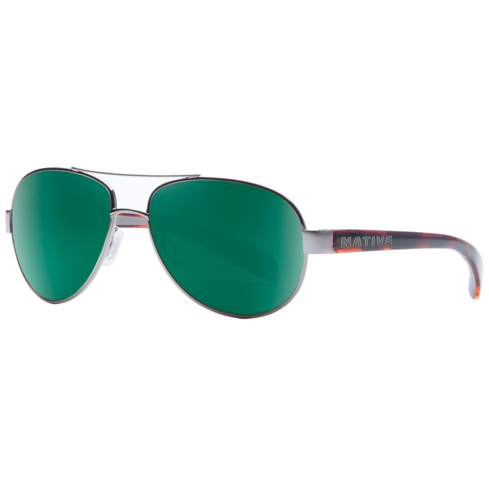NATIVE EYEWEAR Haskill Sunglasses, Maple Tort/Green Reflex NO SIZE
