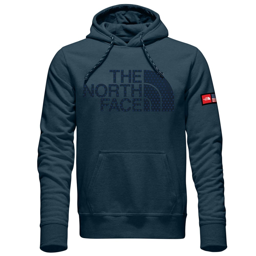 THE NORTH Face Men's International Collection Logo Pullover Hoodie - COSMIC BLUE HTR-A9R