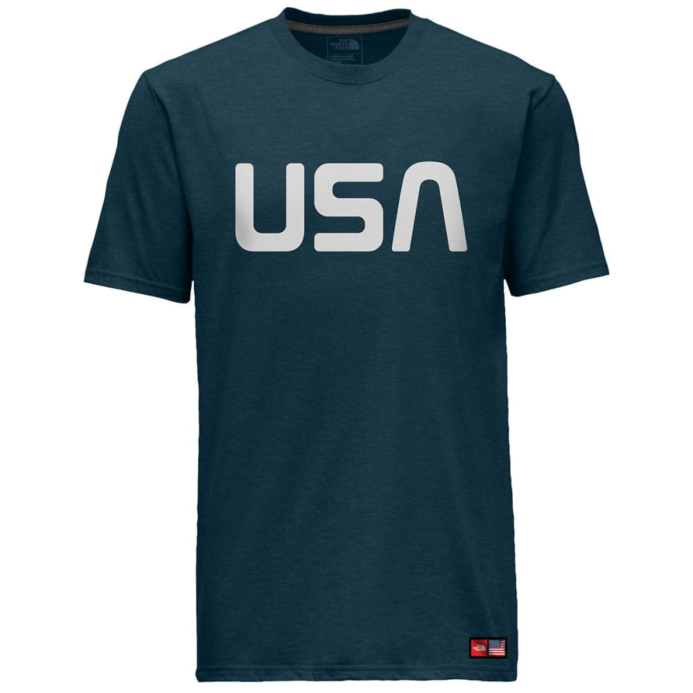 THE NORTH FACE Men's International Collection Tri-Blend Tee - COSMIC BLUE HTR-A9R