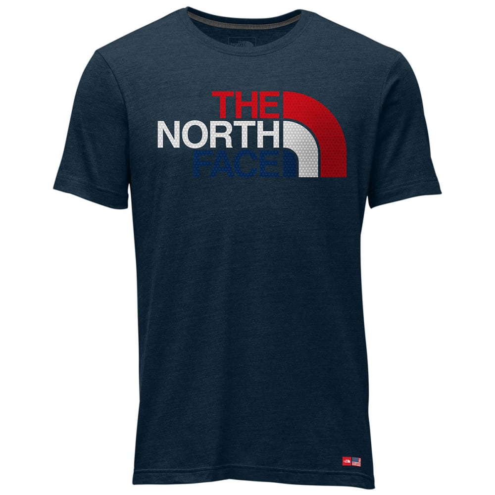 THE NORTH FACE Men's International Collection Cotton Crew T-Shirt - COSMIC BLUE HTR-A9R