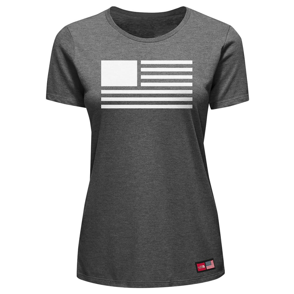 THE NORTH FACE Women's International Collection Dome Fill Tri-Blend Tee - TNF DARK GRY HTR-DYZ