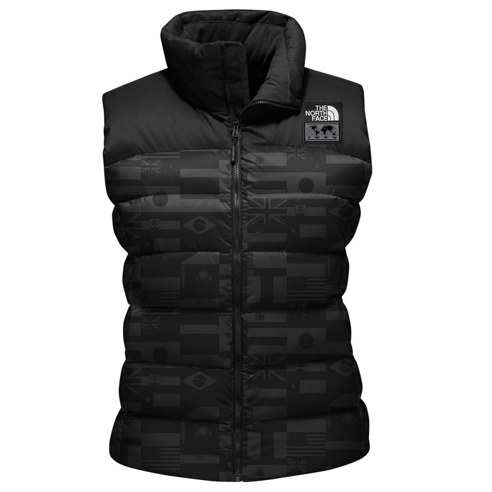 THE NORTH FACE Women's International Collection Nuptse Vest - TNF BLK FLG PRNT-1TU