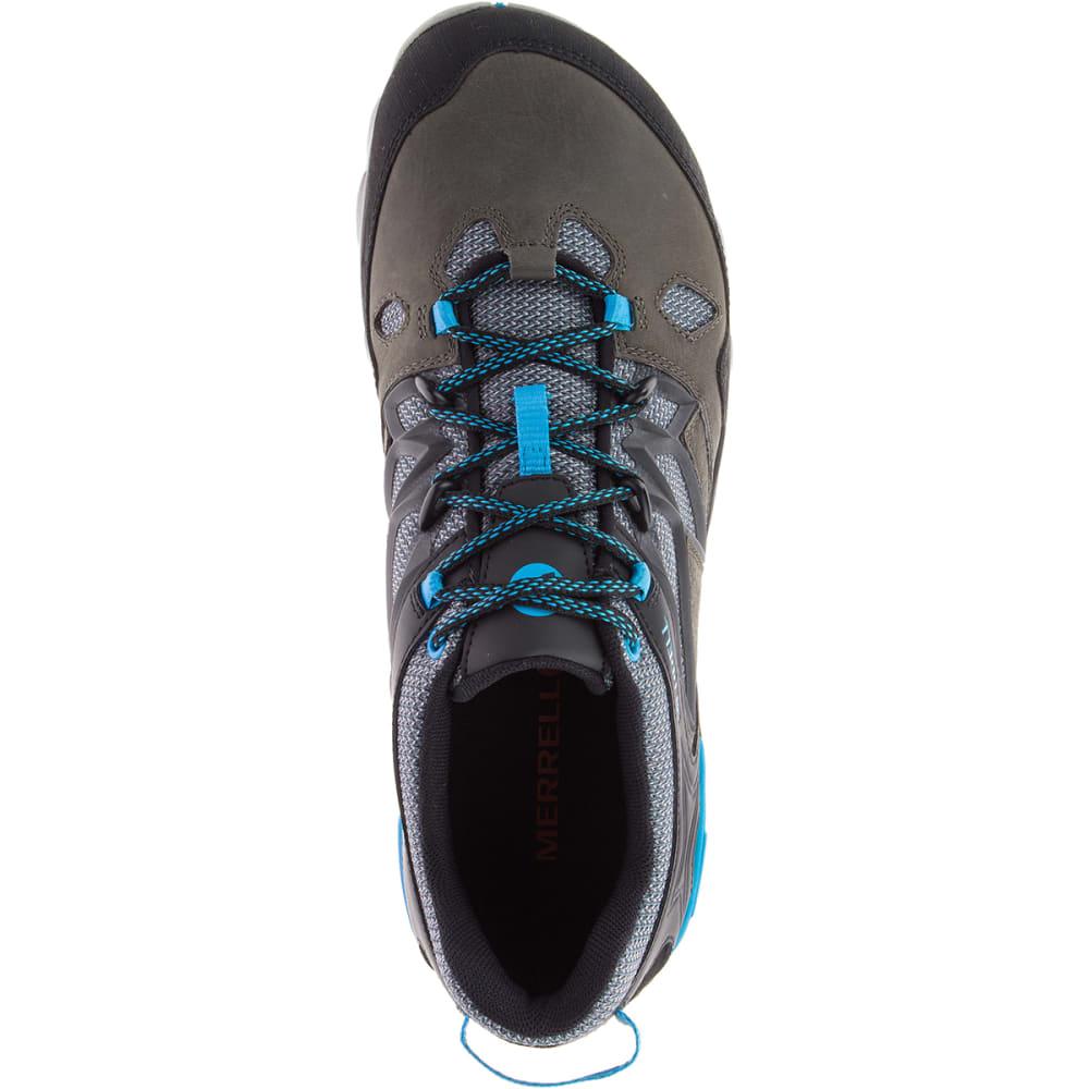 MERRELL Men's All Out Blaze 2 Hiking Shoes, Turbulence/Cyan - TURBULENCE/CYAN