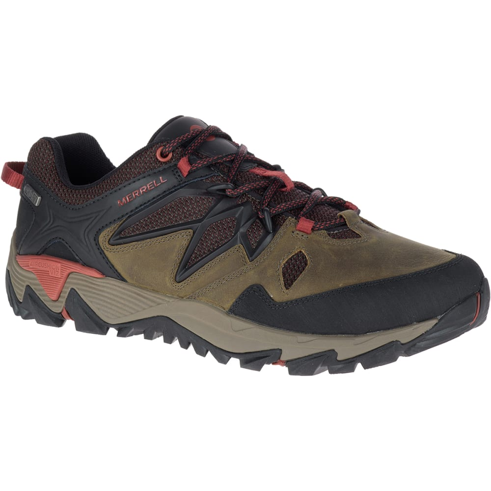 MERRELL Men's All Out Blaze 2 Waterproof Hiking Shoes, Dark Olive - DARK OLIVE