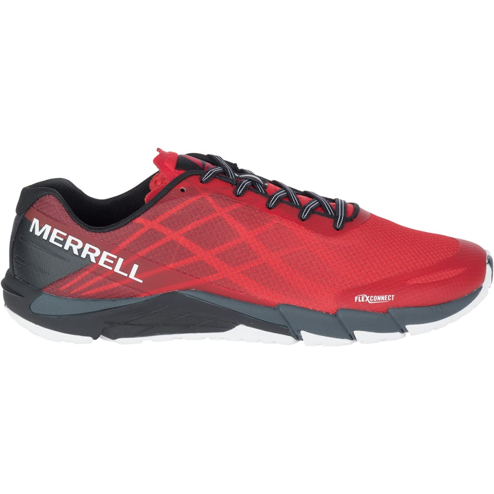 MERRELL Men's Bare Access Flex Trail Running Shoes, High Risk Red - HIGH RISK RED