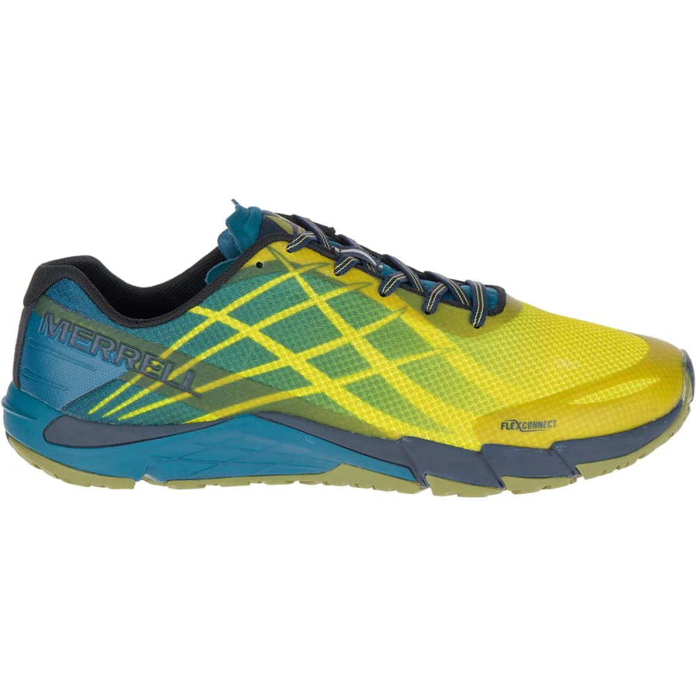 MERRELL Men's Bare Access Flex Trail Running Shoes, Citronelle - CITRONELLE