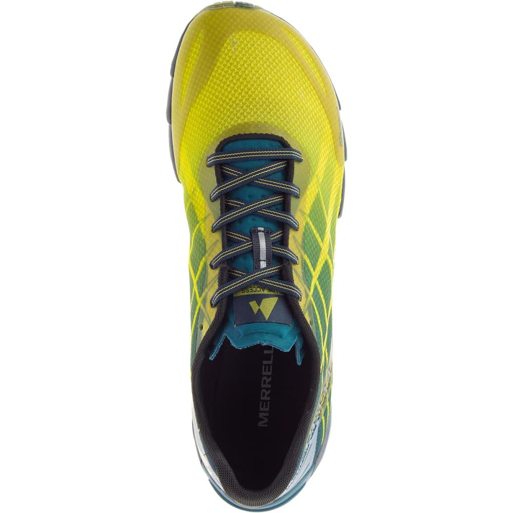 MERRELL Men's Bare Access Flex Trail Running Shoes, Citronelle - CITRONELLE