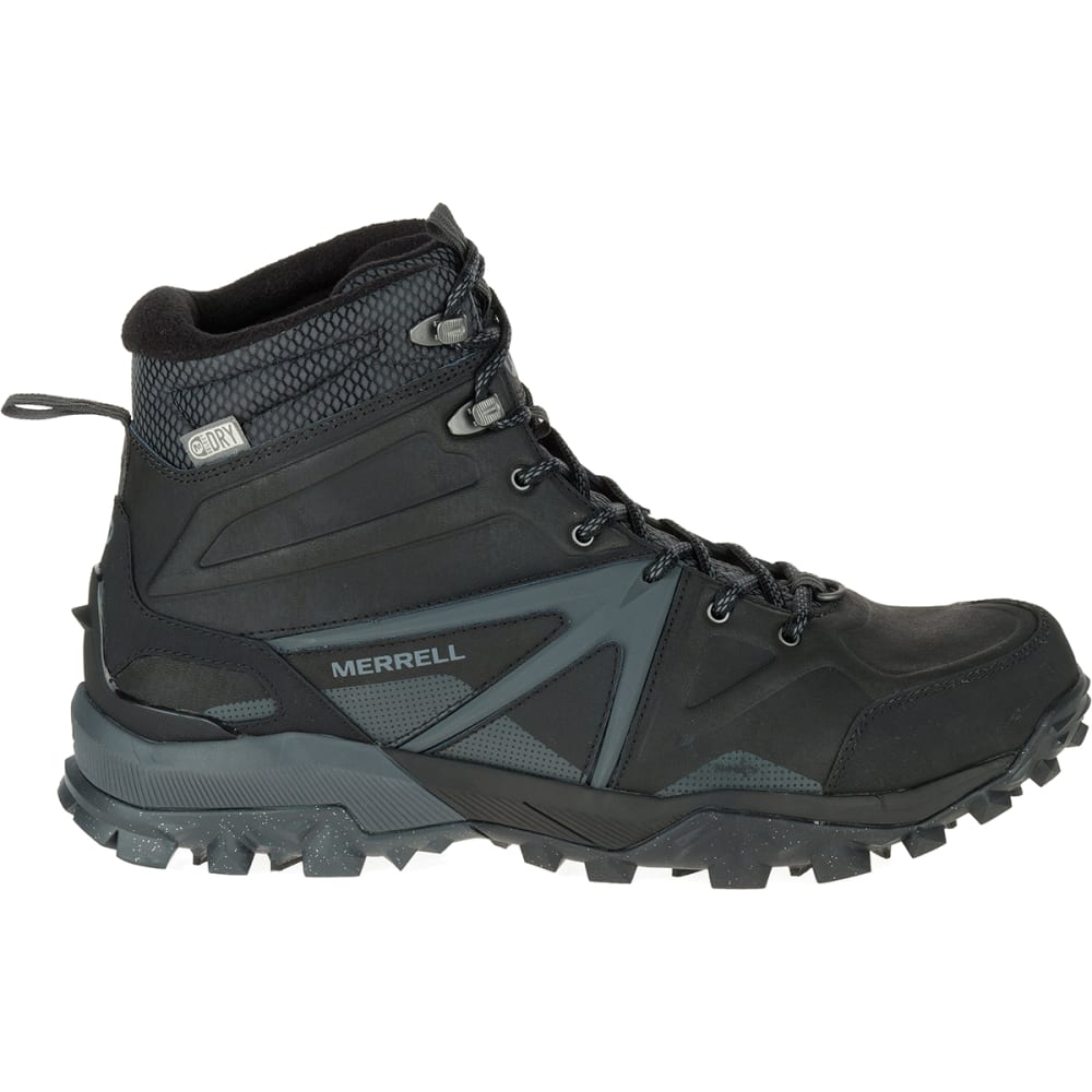 MERRELL Men's Capra Glacial Ice+ Mid Waterproof Hiking Boots, Black - BLACK