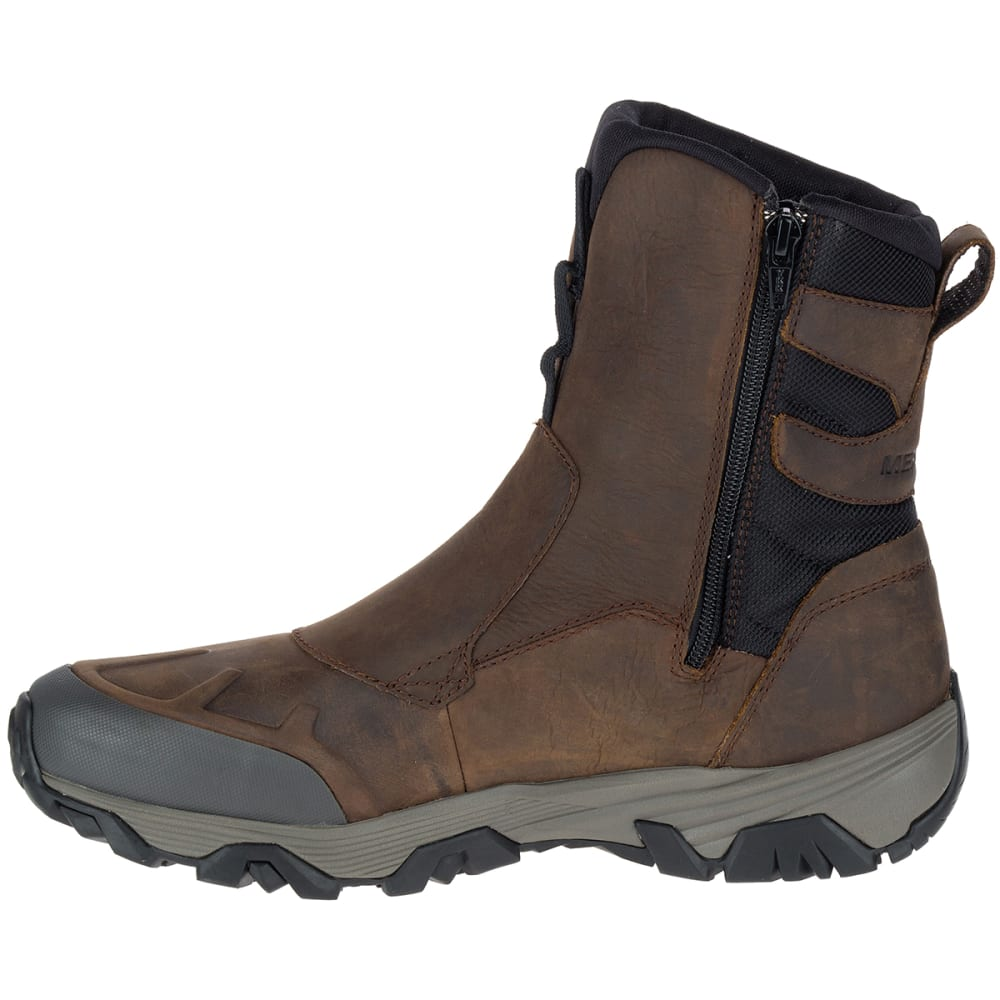 MERRELL Men's Coldpack Ice+ 8-Inch Zip Polar Waterproof Boots, Copper Mountain - COPPER MOUNTAIN