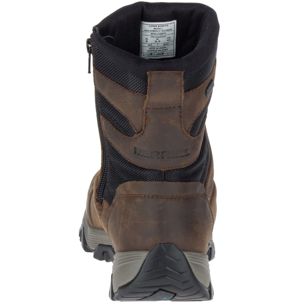 MERRELL Men's Coldpack Ice+ 8-Inch Zip Polar Waterproof Boots, Copper Mountain - COPPER MOUNTAIN