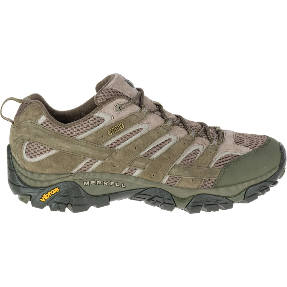 MERRELL Men's Moab 2 Waterproof Hiking Shoes, Dusty Olive - DUSTY OLIVE