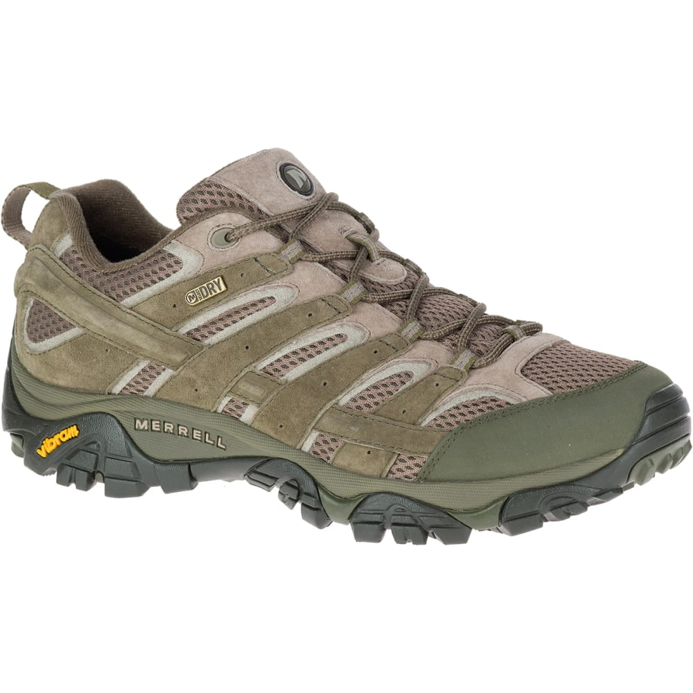 MERRELL Men's Moab 2 Waterproof Hiking Shoes, Dusty Olive - DUSTY OLIVE