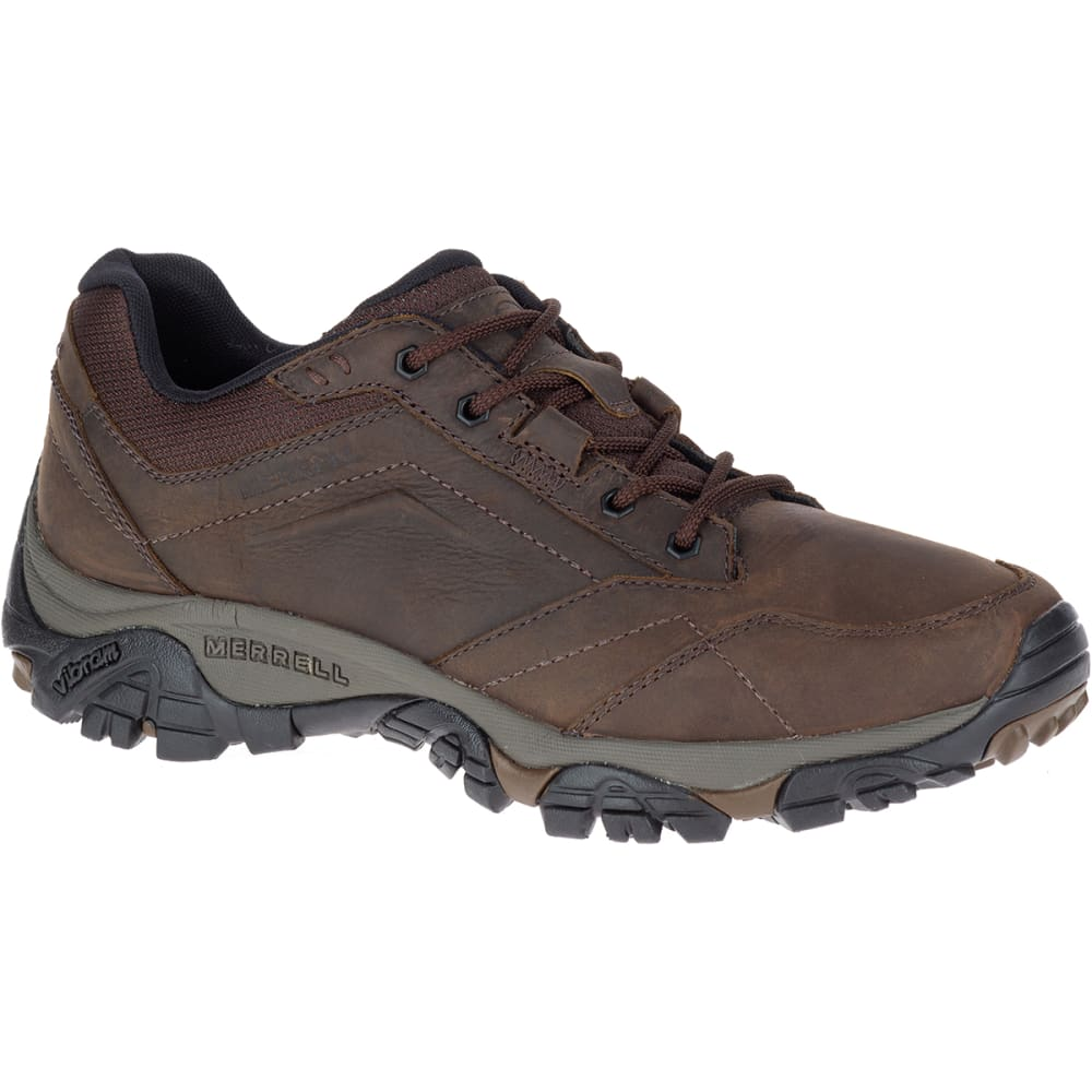 MERRELL Men's Moab Adventure Lace Up Shoes, Dark Earth - DARK EARTH
