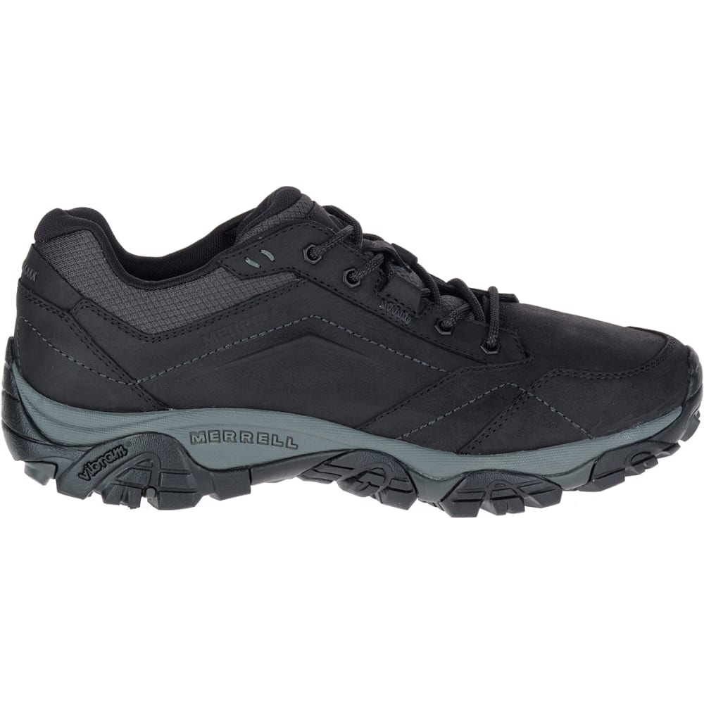 MERRELL Men's Moab Adventure Lace Up Shoes - BLACK