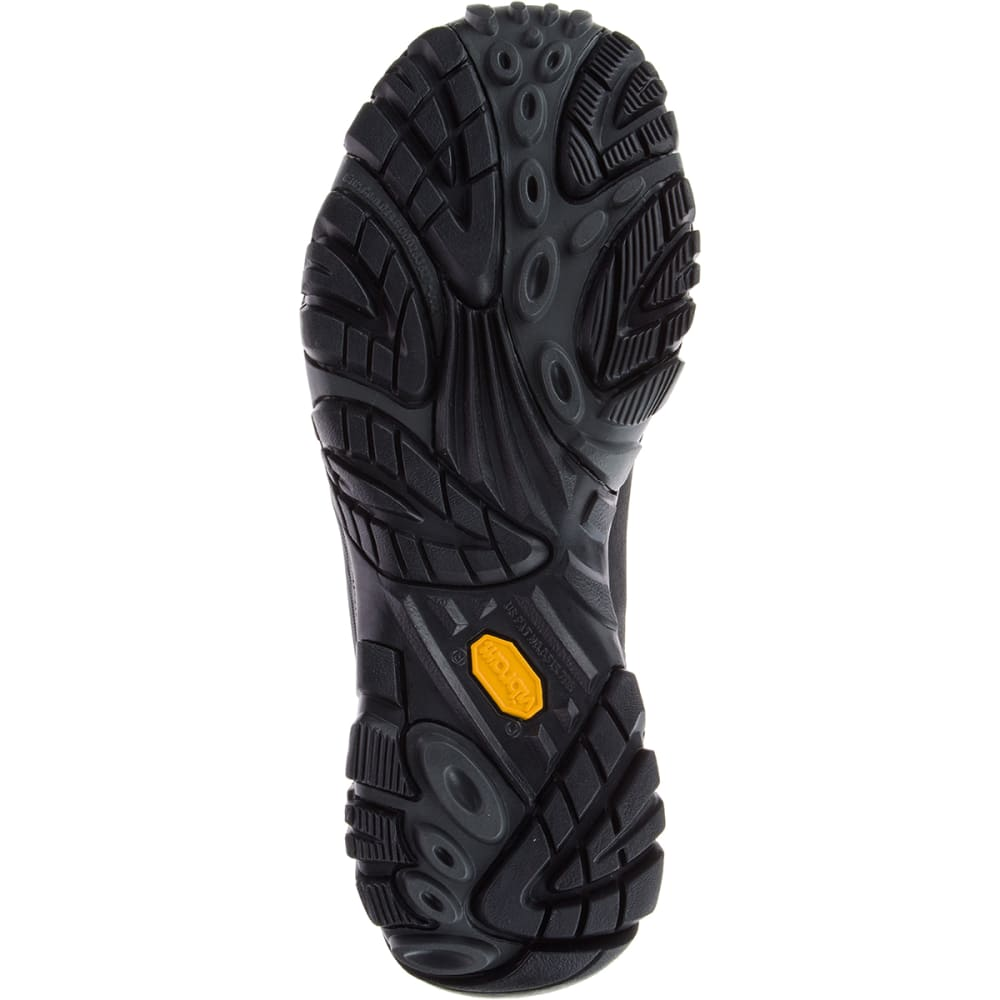 MERRELL Men's Moab Adventure Lace Up Shoes, Black - BLACK