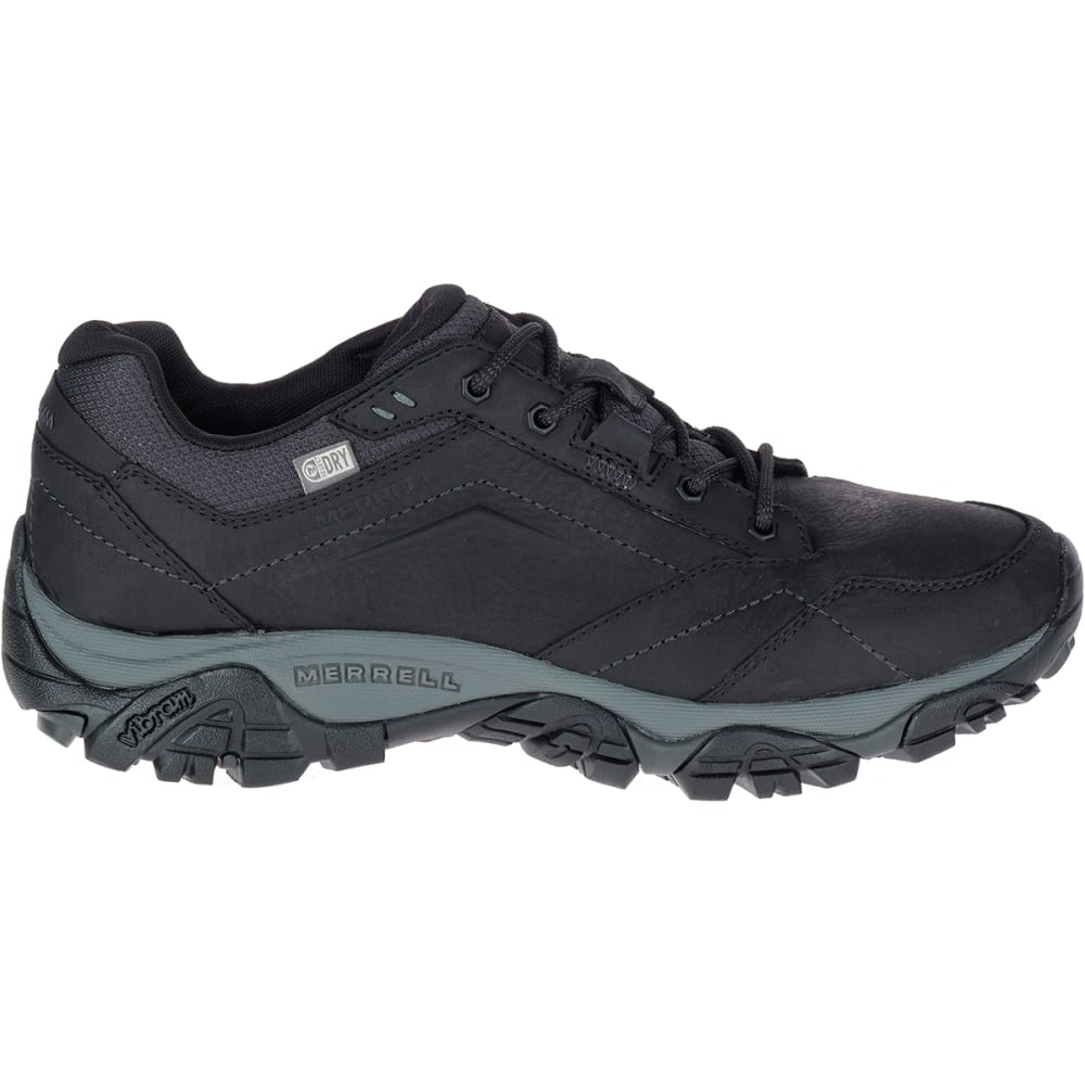 MERRELL Men's Moab Adventure Lace Up Waterproof Shoes - BLACK