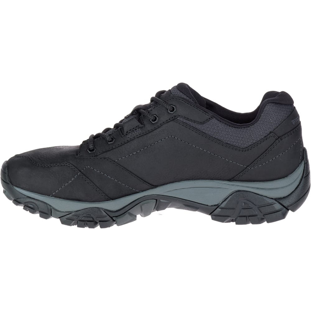 MERRELL Men's Moab Adventure Lace Up Waterproof Shoes, Black - BLACK