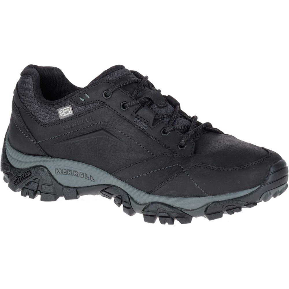 MERRELL Men's Moab Adventure Lace Up Waterproof Shoes, Black - BLACK