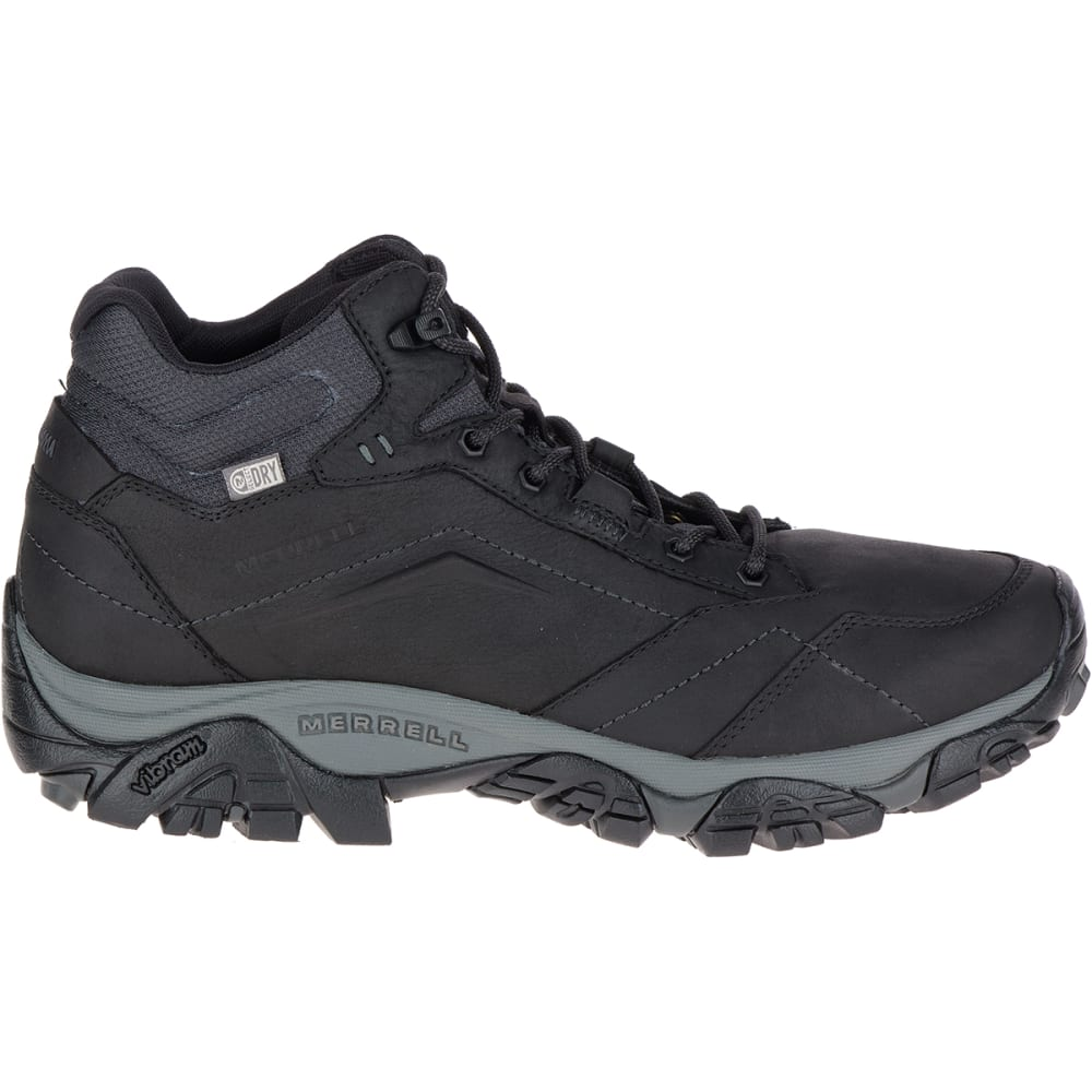 MERRELL Men's Moab Adventure Mid Waterproof Hiking Boots - BLACK